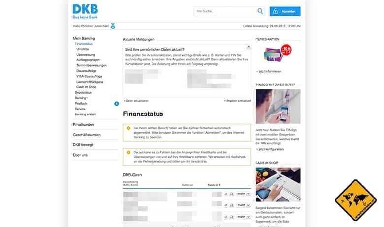 DKB Cash Erfahrung Online Banking