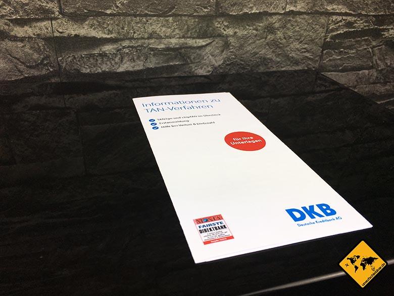 DKB Cash Erfahrung - Weltweit kostenlos Geld abheben - Infoflyer TAN Verfahren
