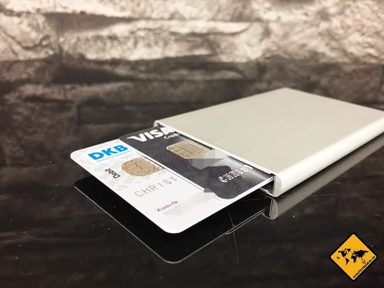 DKB Cash Erfahrung - Weltweit kostenlos Bargeld abheben - Secrid Kartenhalter