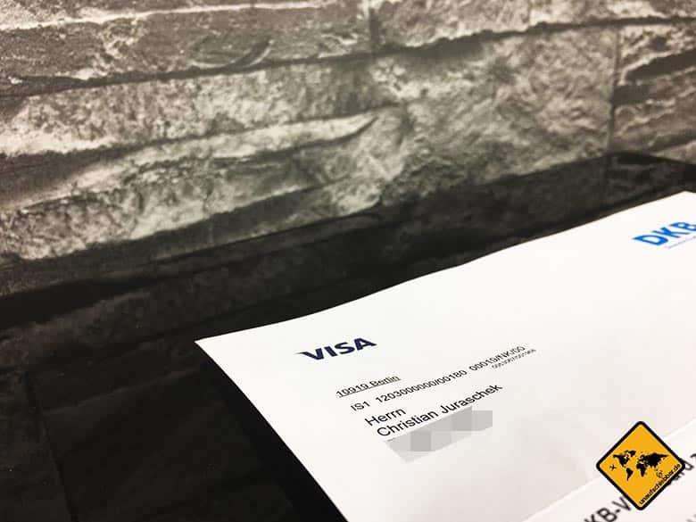 DKB Cash Erfahrung - Weltweit kostenlos Geld abheben - Visa Brief