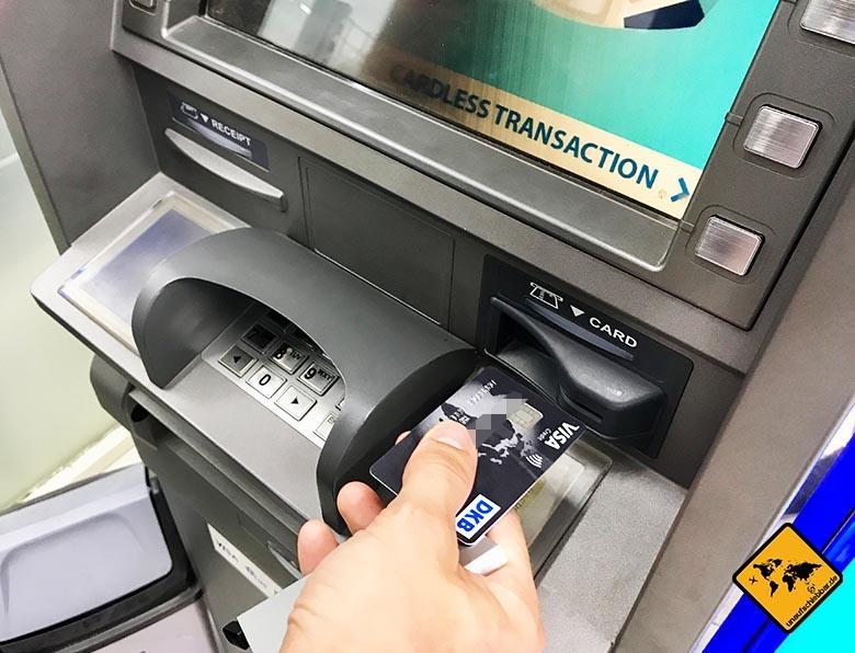 DKB Kreditkarte kostenlos Geld abheben im Ausland