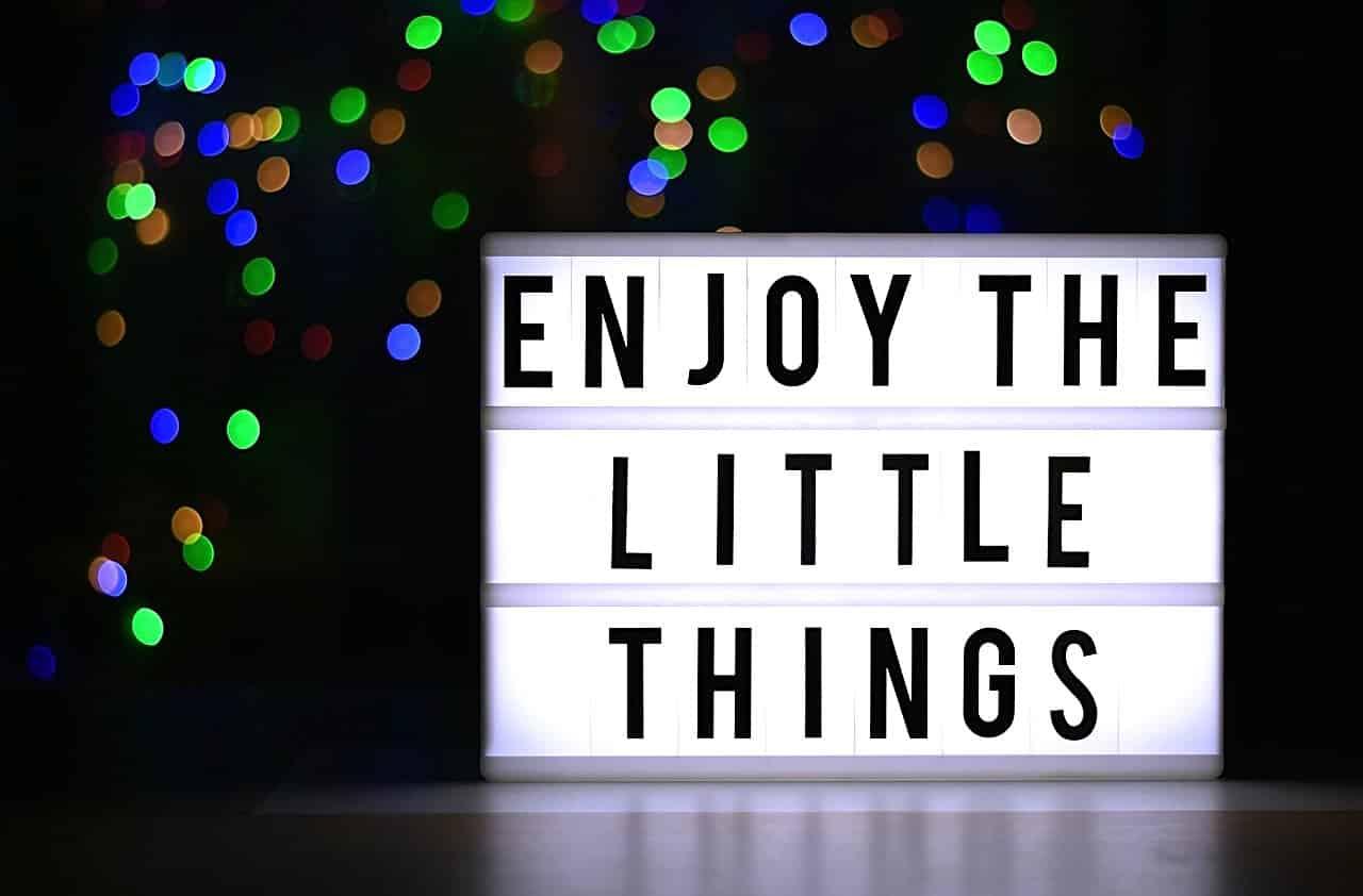 Dankbar sein für kleine Dinge