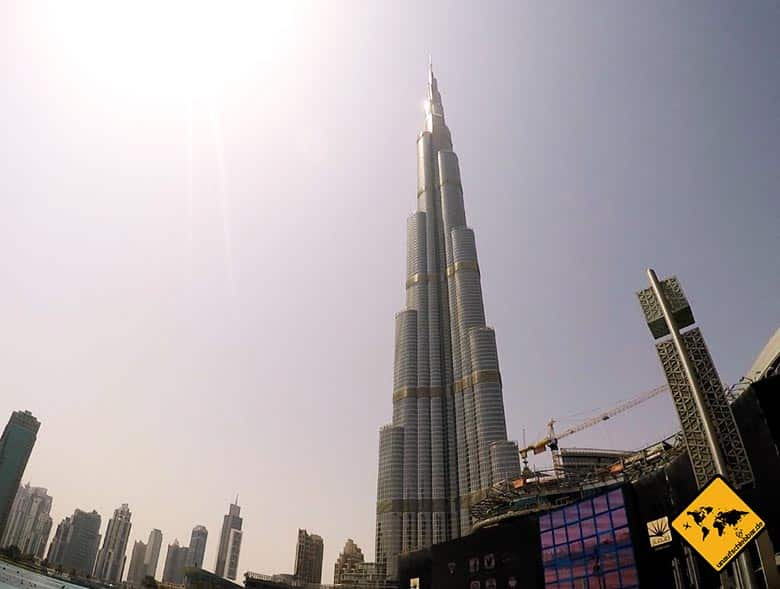 Der Dubai Tower beherbergt das Burj Khalifa Hotel Armani