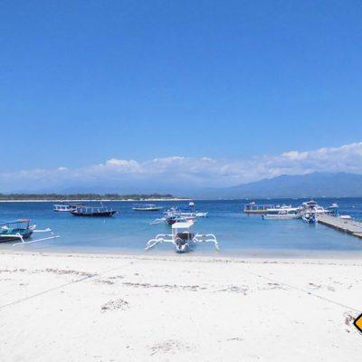 Der beschauliche kleine Hafen von Gili Trawangan