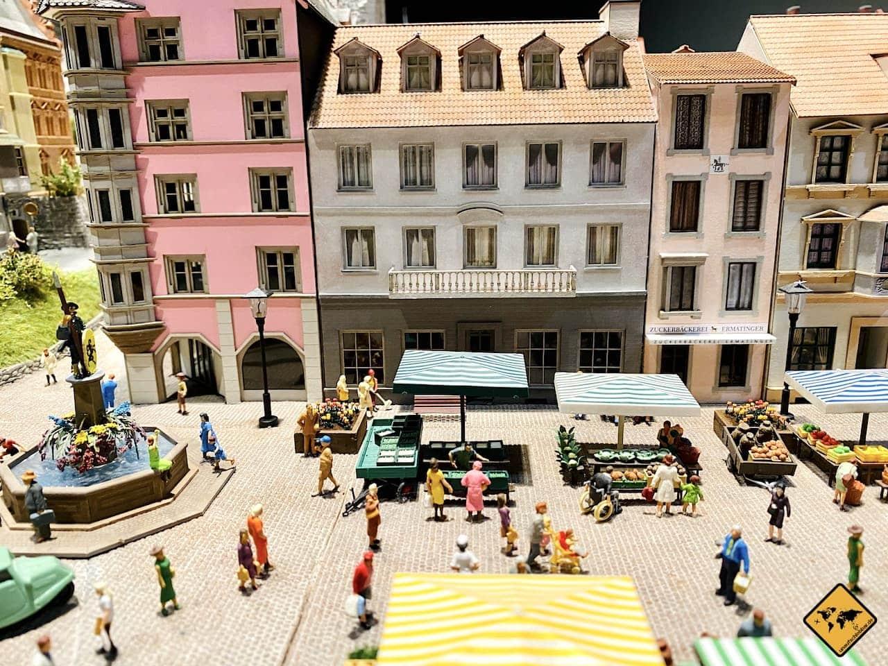 Detailansicht Stadt Miniaturwelt Schweiz