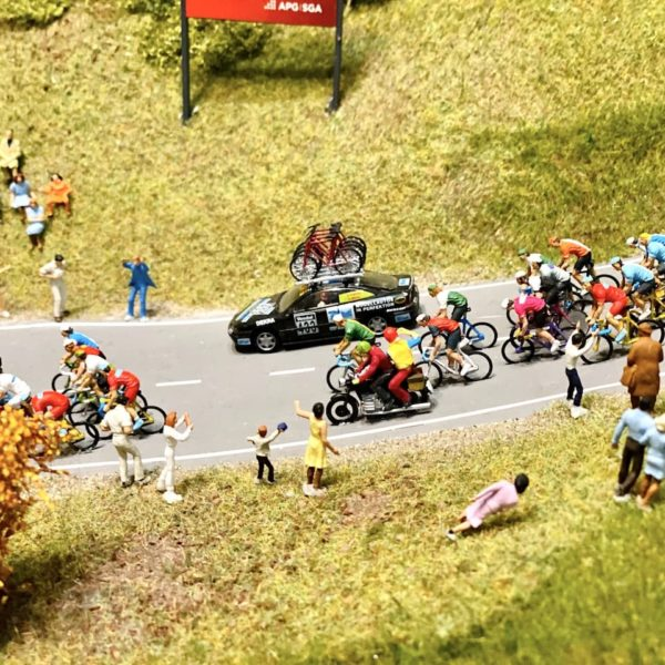 Details Miniaturwelt Schweiz Radrennen