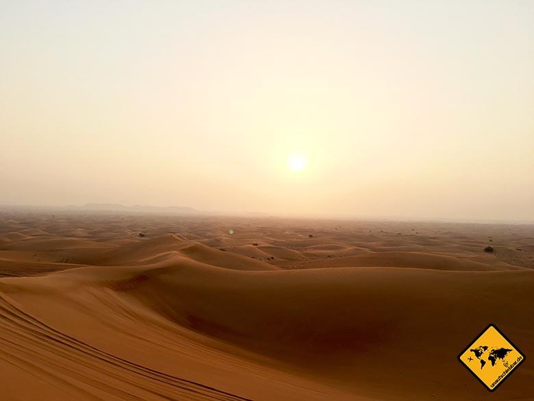 Die faszinierende Weite der Dubai Wüste