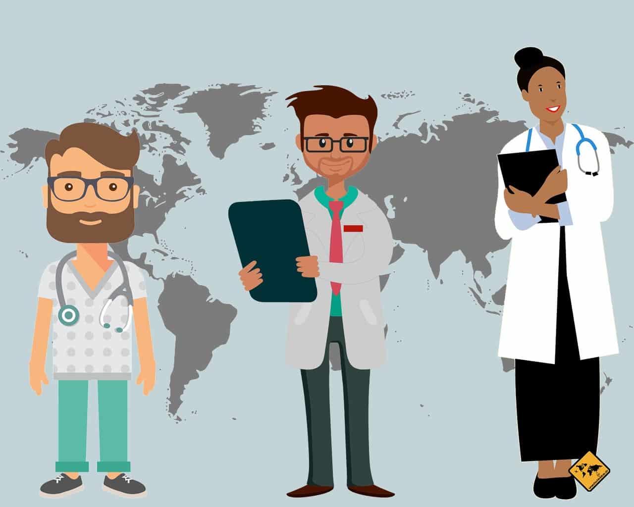 Digitale Nomaden Familie Ärzte im Ausland Behandlung