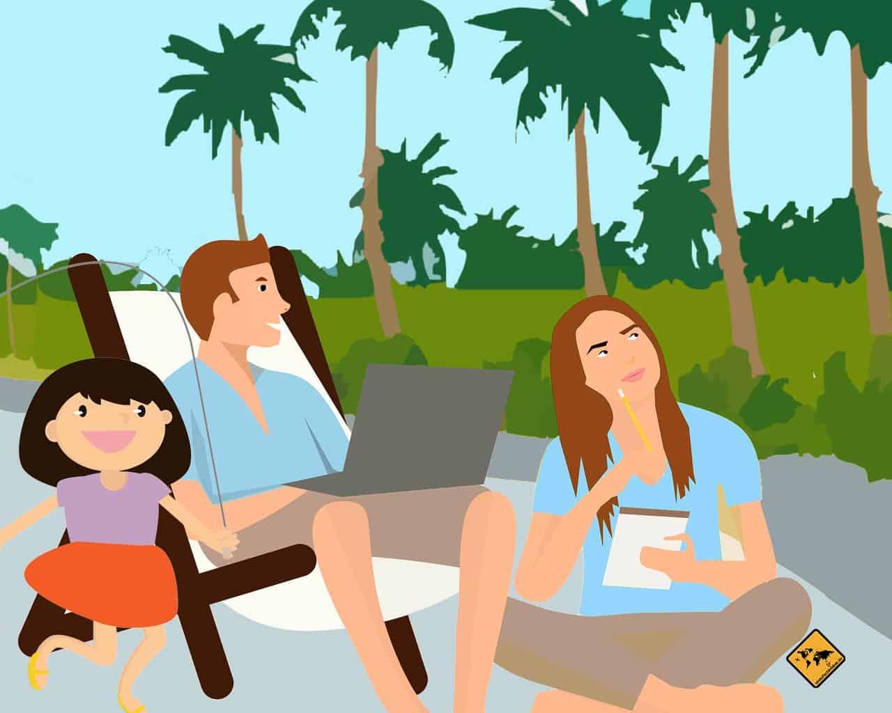 Digitale Nomaden Familie