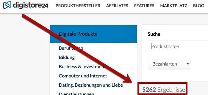 Digitale Produkte verkaufen Digistore24 Marktplatz