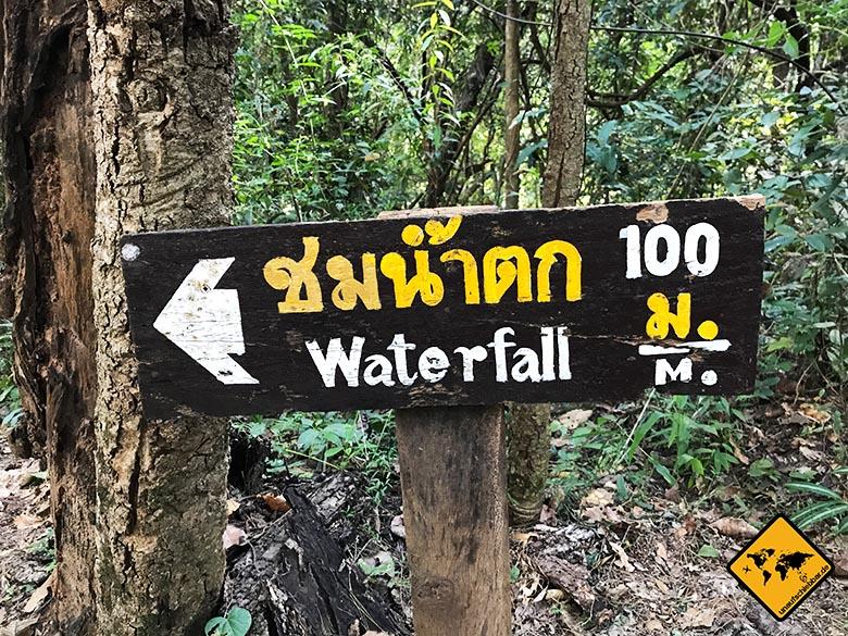 Doi Inthanon Nationalpark Ausschilderung
