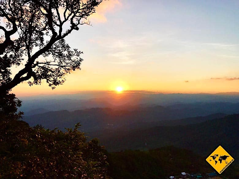 Doi Pui View Point Sonnenuntergang Chiang Mai