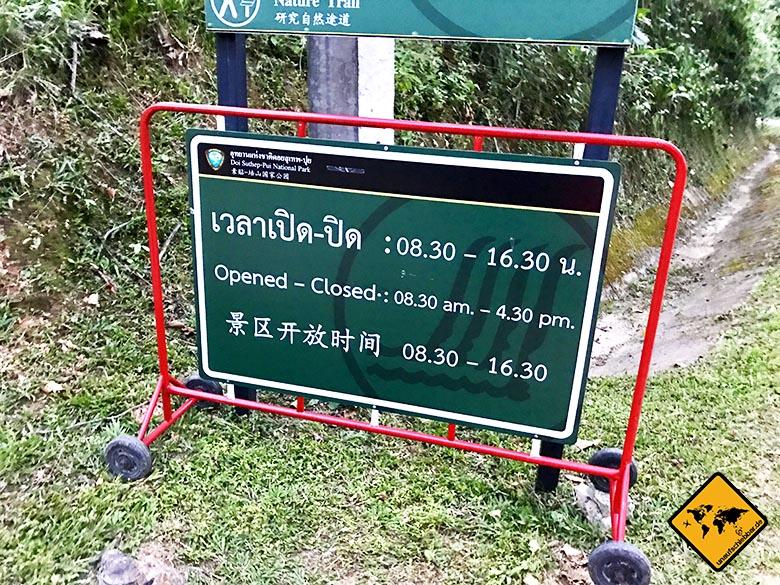 Doi Suthep National Park Öffnungszeiten