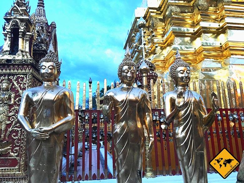 Doi Suthep Tempel Buddha Figuren