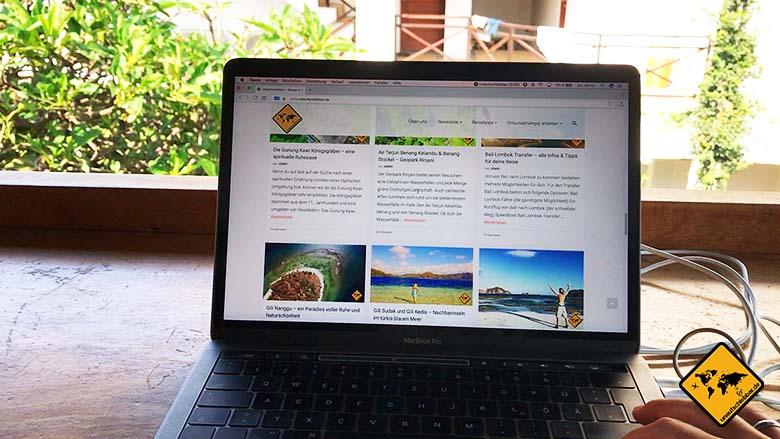 Dojo Bali Arbeitsbereich MacBook