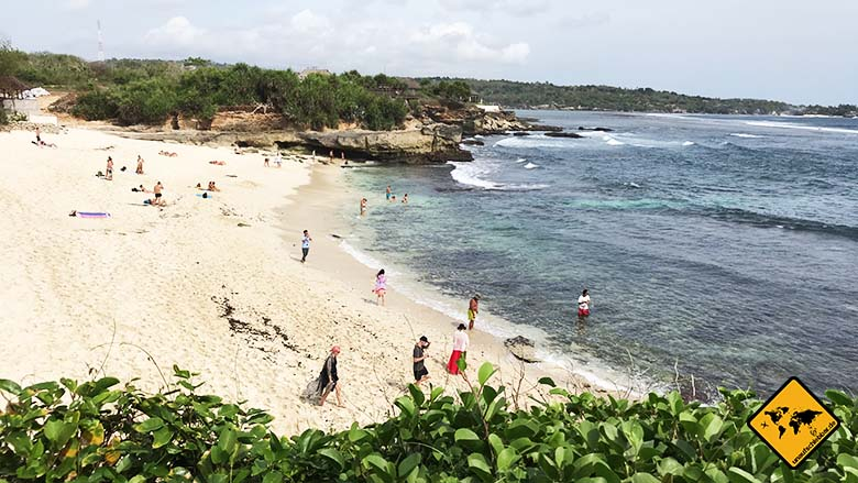 Dream Beach Nusa Lembongan Steine