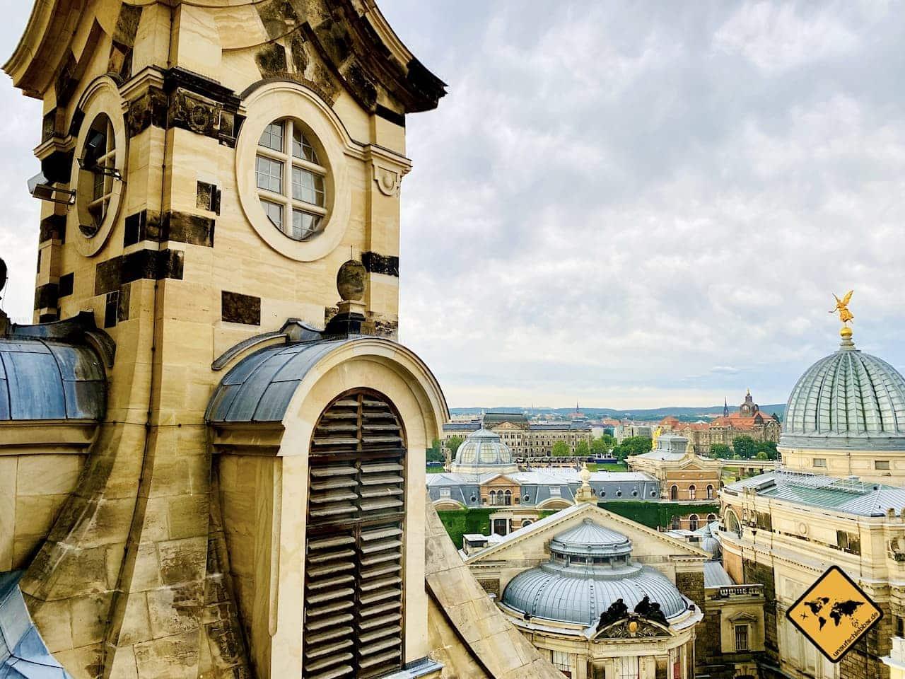 Dresden Sehenswürdigkeiten Ausblick Frauenkirche