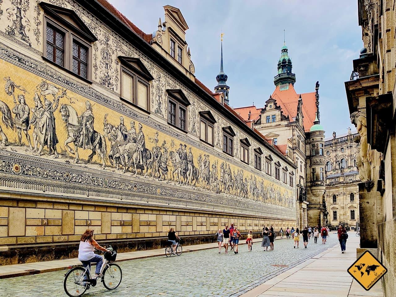 Dresden Sehenswürdigkeiten Fürstenzug