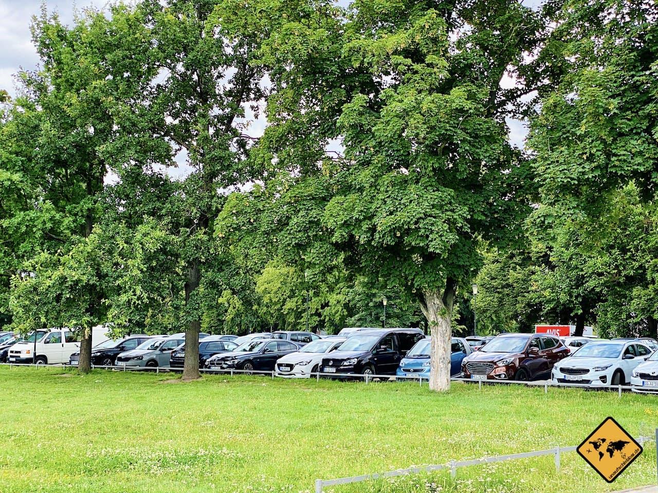 Dresden kostenloser Parkplatz Pieschener Allee