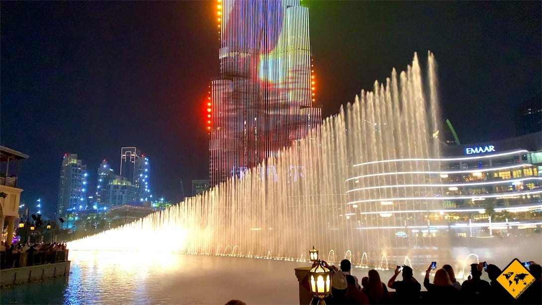 Dubai Fountain Uhrzeit