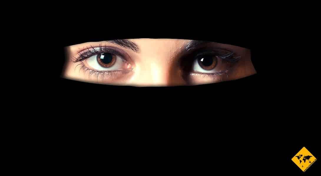 Dubai Kleidung Niqab Gesichtsschleier