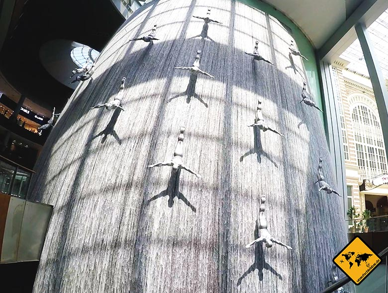 Dubai Sehenswürdigkeiten: Dubai Mall Wasserfall
