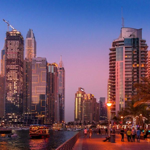 Dubai Marina Abendstimmung