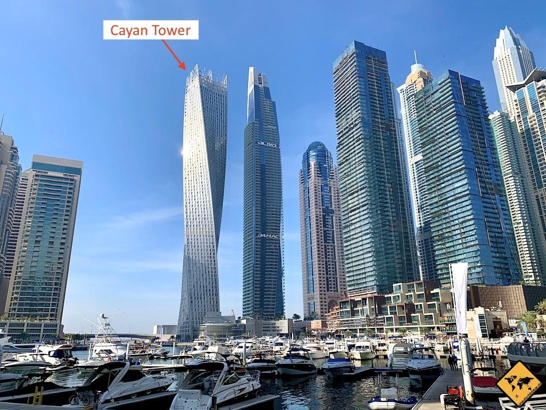 Dubai Marina Skyline Cayan Tower