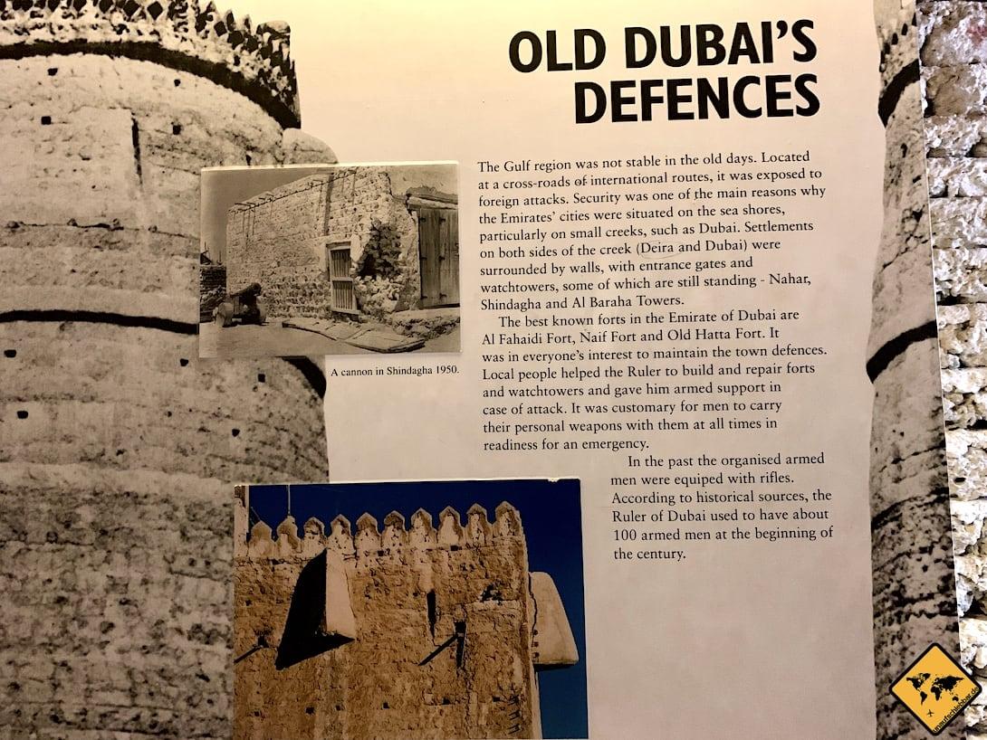 Dubai Museum Informationstafel