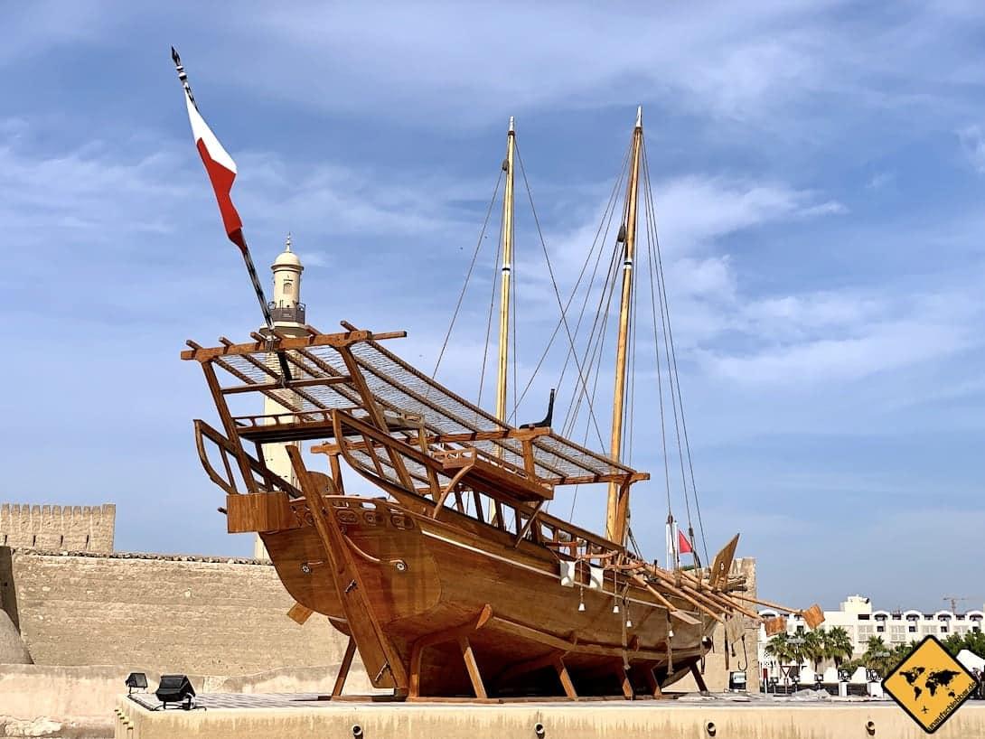 Dubai Museum Schiff Außenbereich