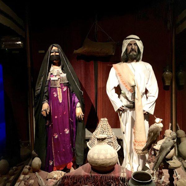 Dubai Museum traditionelle Kleidung