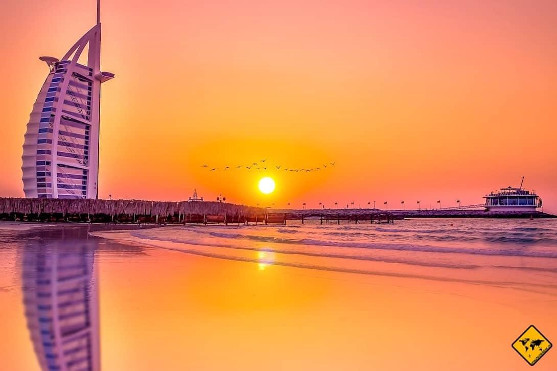 Dubai im Sommer Burj Al Arab
