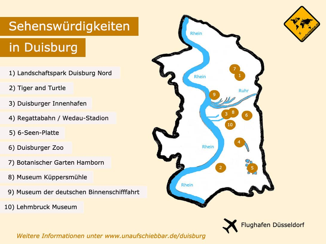 Duisburg Sehenswürdigkeiten Karte