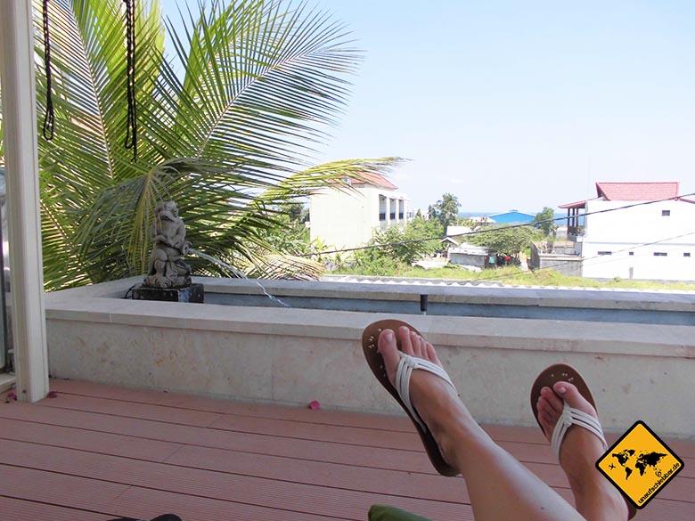 Echo Beach Resort Canggu Bali Aussicht Balkon 1