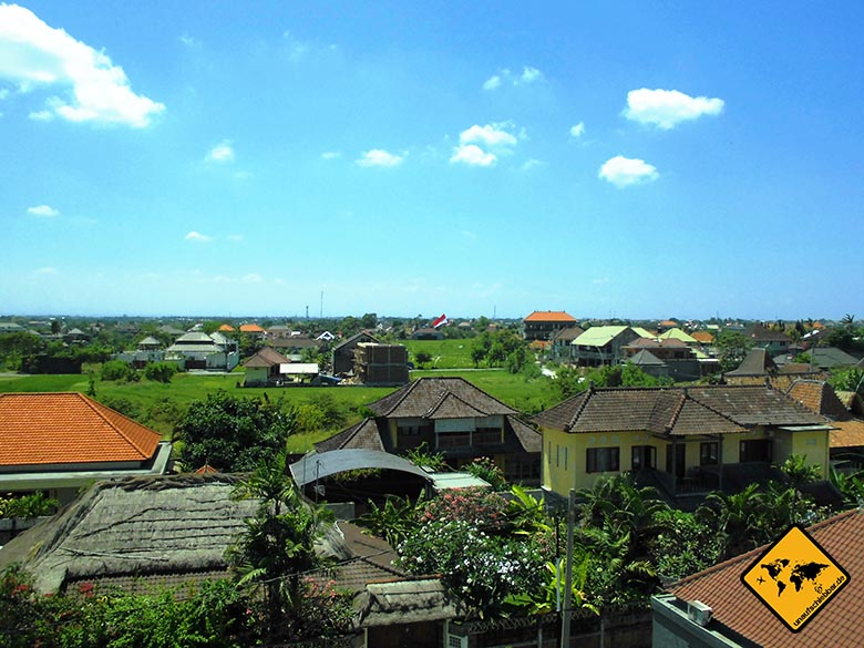 Echo Beach Resort Canggu Bali Aussicht