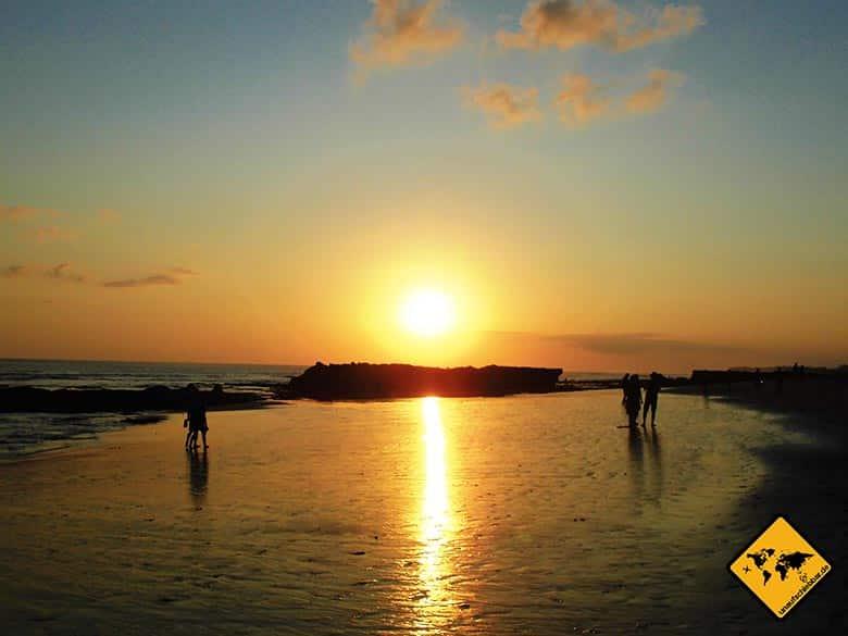 Echo Beach Resort Canggu Bali Sonnenuntergang
