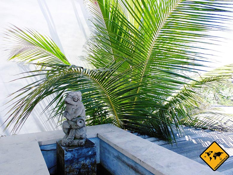 Echo Beach Resort Canggu Bali Springbrunnen Balkon