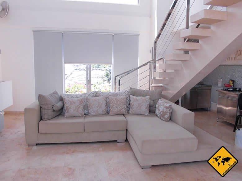 Echo Beach Resort Canggu Bali Wohnzimmer Couch