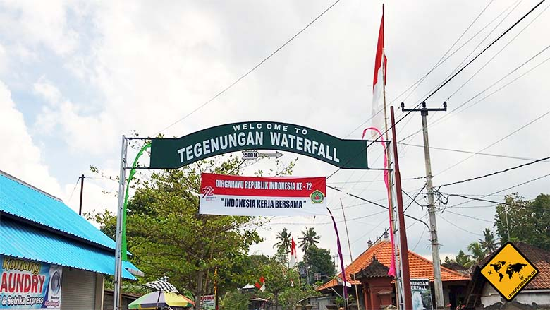 Einfahrt Tegenungan Waterfall Ubud