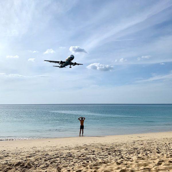 Einflugschneise Phuket Nai Yang Beach