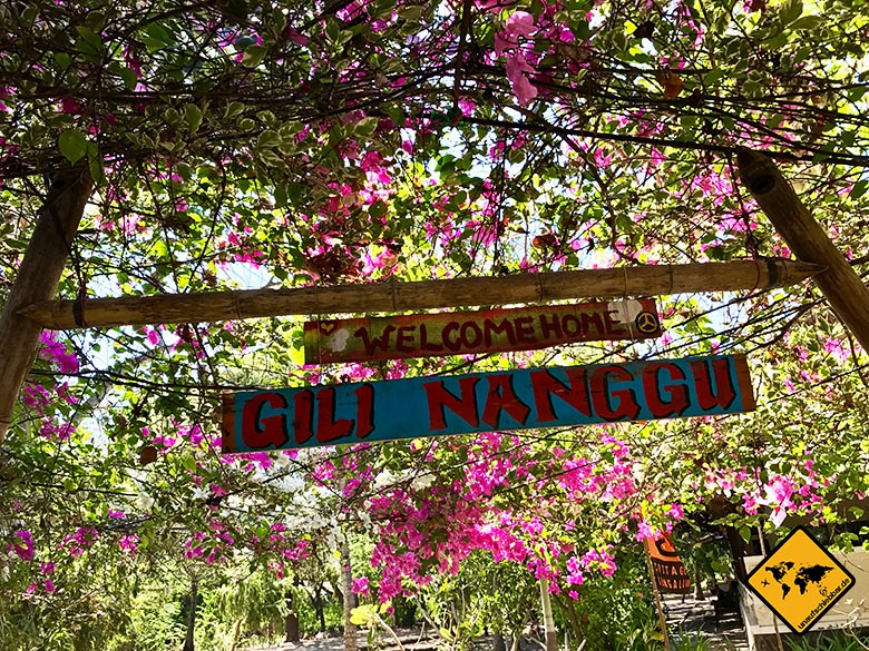 Eingang Gili Nanggu Cottages & Resort