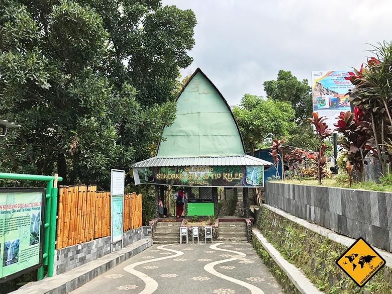 Eingang Lombok Wasserfälle Sendang Gile Tiu Kelep