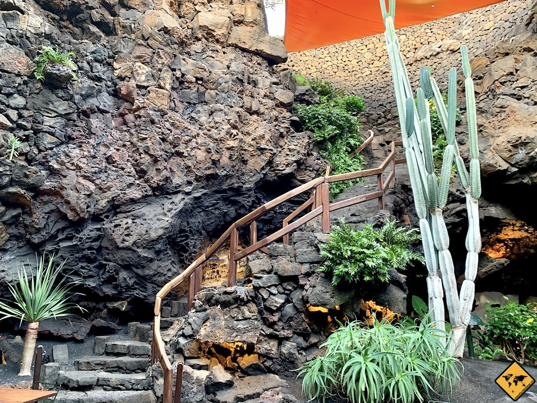 Eingangstreppe Jameos del Agua Lanzarote
