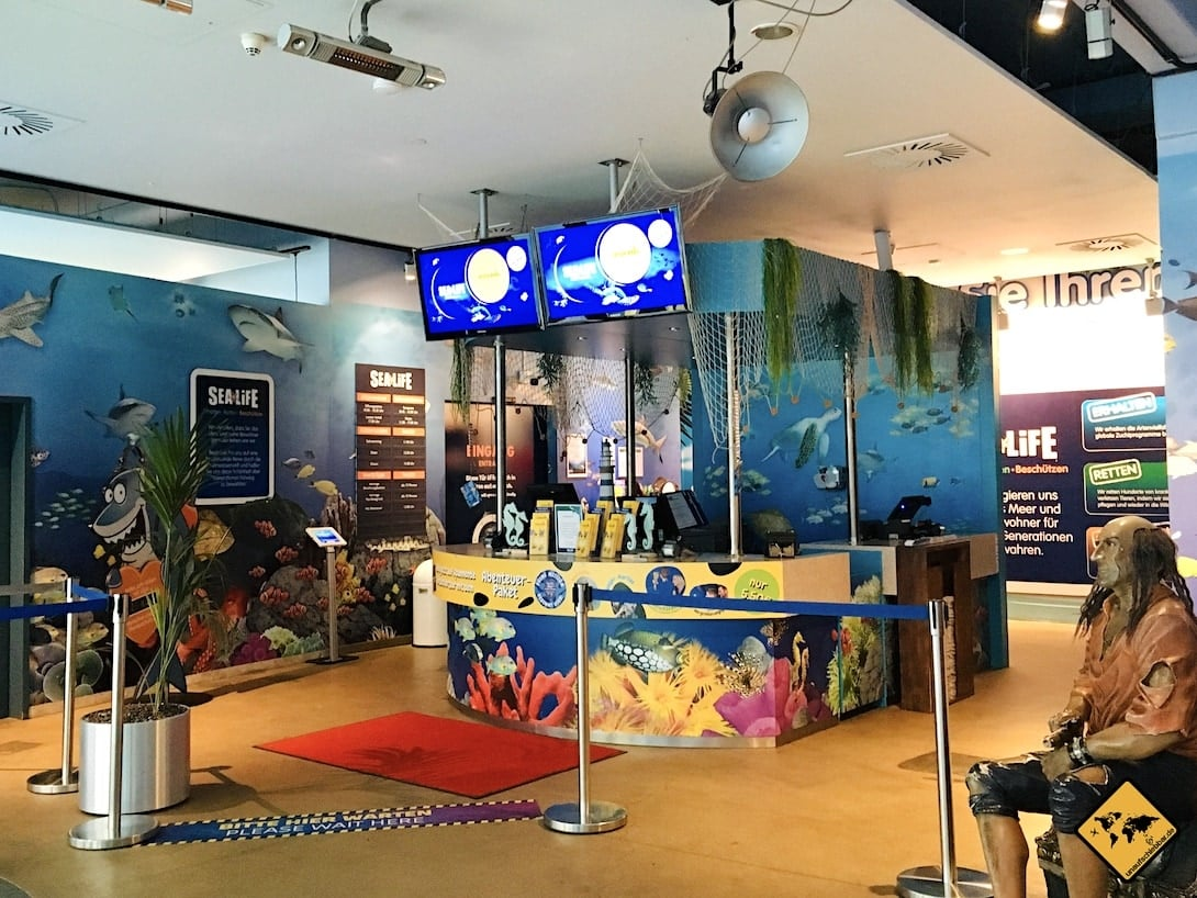 Eintritt Kasse Sea Life Oberhausen
