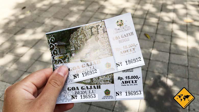Eintrittskarten Goa Gajah Temple Bali