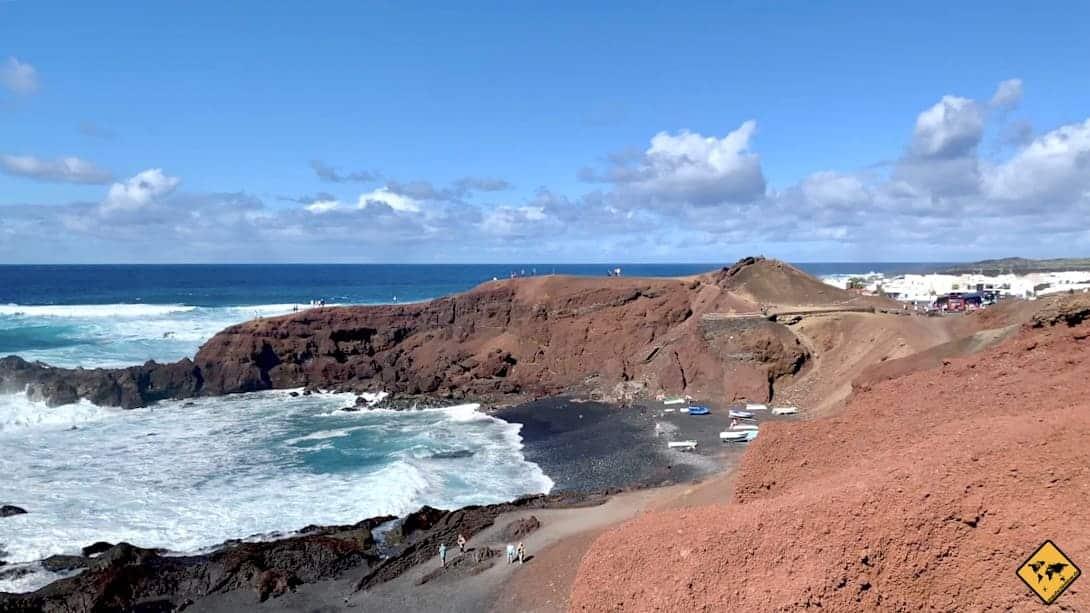 El Golfo Fischerort Küste Lanzarote