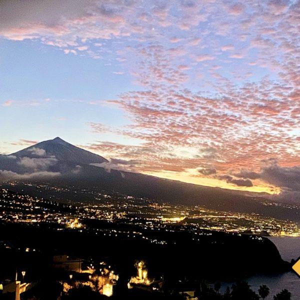 El Teide Sicht Jardin de la Paz
