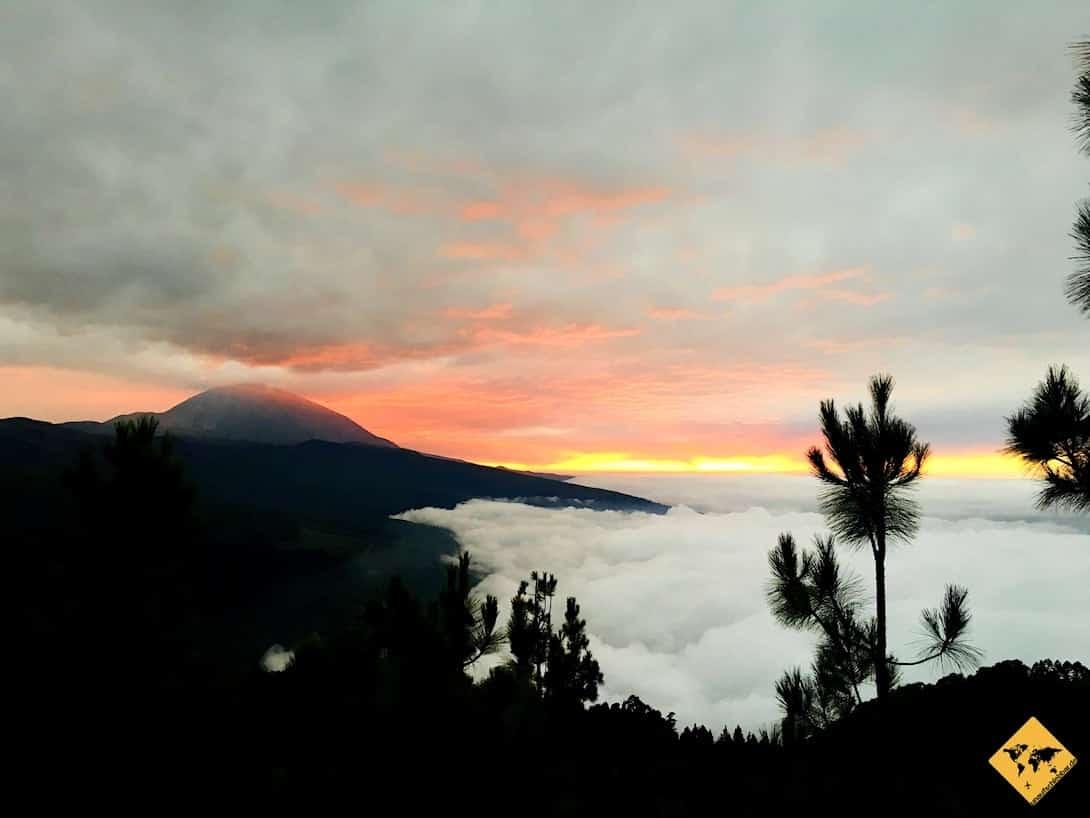 El Teide Sonnenuntergang Wolken