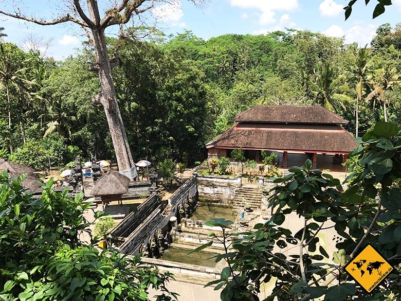 Elefantenhöhle Bali von oben