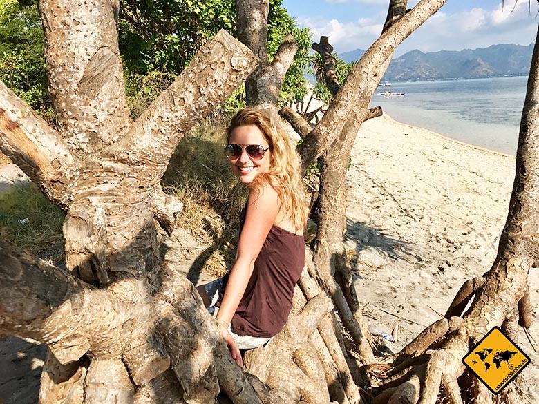 Entspannung Gili Air Beach